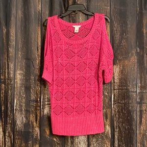 Vintage Candies Pink and Silver knit shirt